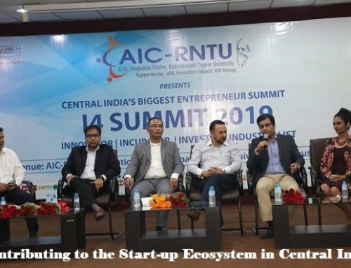 Contributing to the start-up ecosystem at Central India's largest start-up event i-4 Summit @ AIC-RNTU – Panel Discussion